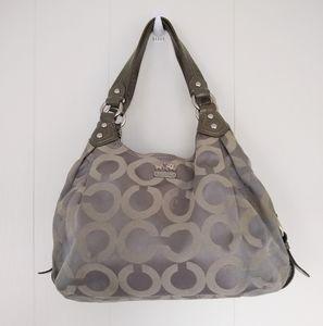 COACH Madison Op Art Maggy F14305 Gray Purse Bag